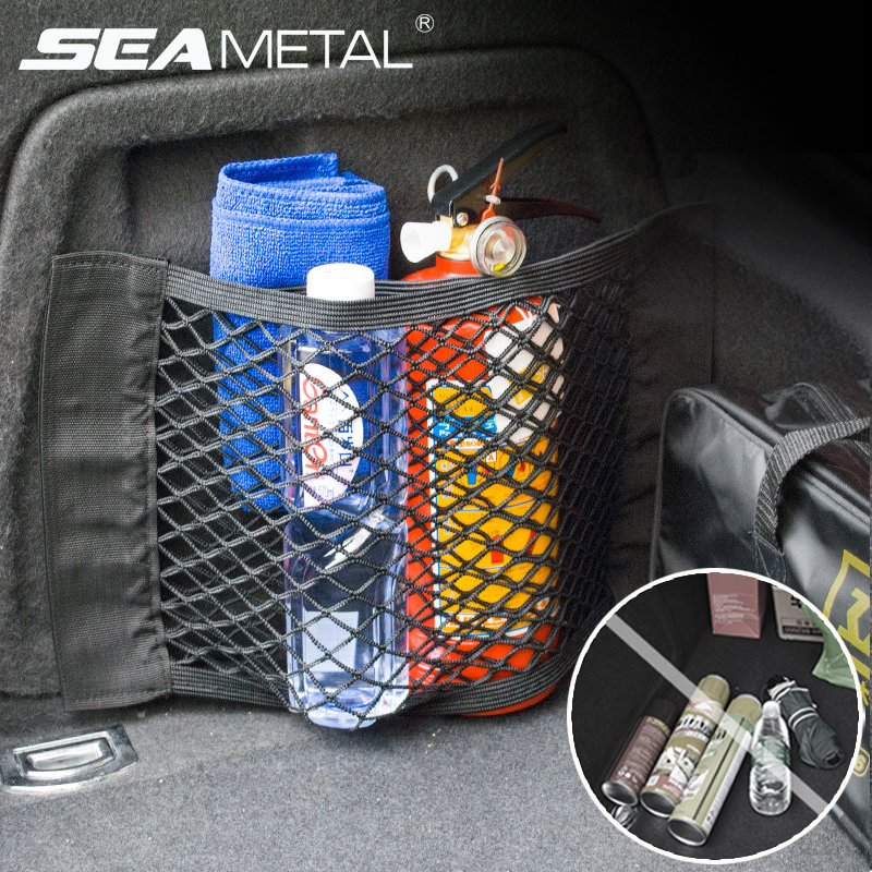 Net Pocket-Bag Network Mesh Trunk Car-Organizer Tidying Storage Auto-Accessories Back-Stowing