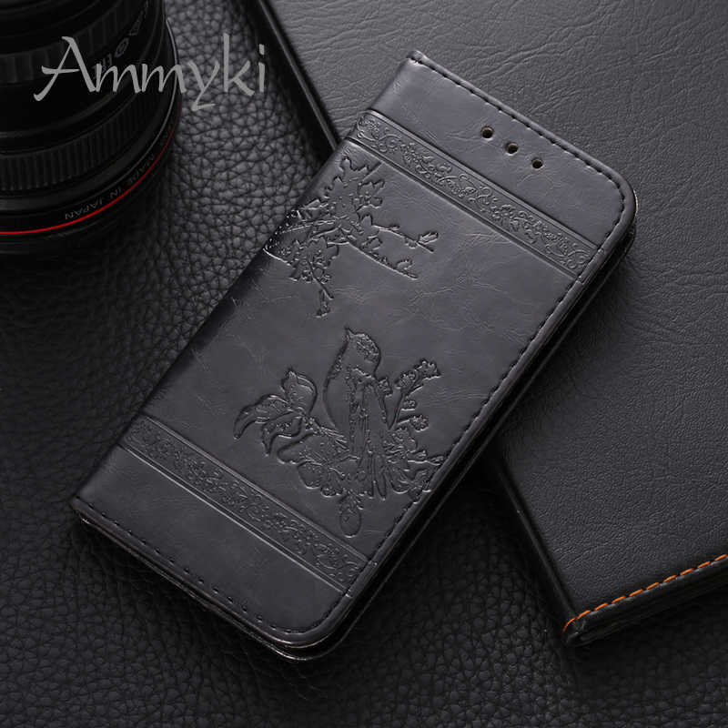 AMMYKI Hot unique flowers and birds design phone back cover case Fragrant floral flip leather 5.0'For Huawei Ascend G620s case