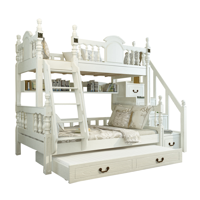 European Wholesale Cheap Bedroom Furniture Pine Bunk Beds For Kids