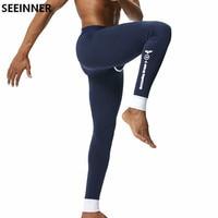 Seeinnerยี่ห้อผู้ชายกางเกงในแบบยาวผ้าฝ้ายเซ็กซี่แข็งleggingsกางเกงในความร้อนcuecas