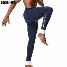 Seeinner Brand Men Long Johns Cotton Sexy Solid leggings Thermal Underwear cuecas Gay Men Thermo Underwear Long Johns Underpants