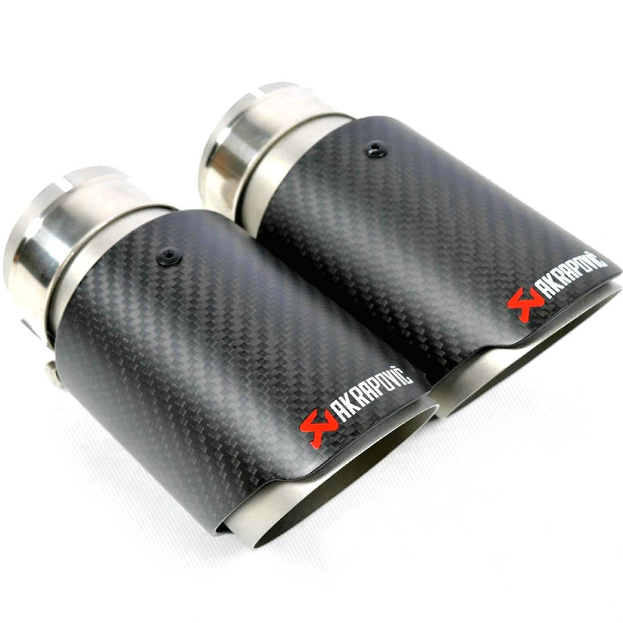 Universal Car Exhaust Muffler Akrapovic Carbon Fiber Exhaust Pipe Car Exhaust Pipe End Tail Muffler Tip