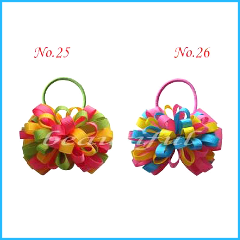 """50 BLESSING Good Girl Boutique 4/"""" Fireworks Hair Bow Clip Accessories No 177"""
