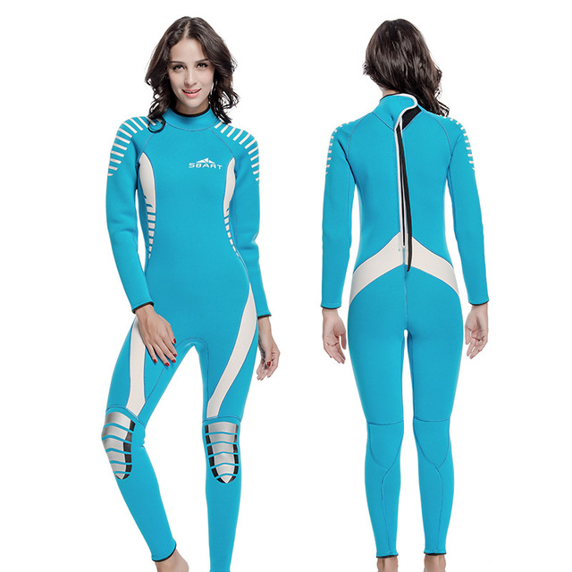 1db7bf57174e € 145.07  Traje de invierno de buceo traje de neopreno 3 mm de buceo traje  lycra de cuerpo completo largos trajes de baño de natación trajes para ...