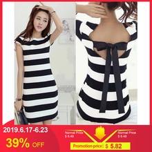 0c3dd7dcd517 romacci Plus Size Women K-pop Korean Cut Out Tie Bow Short Sleeve Mini Sexy  Dress