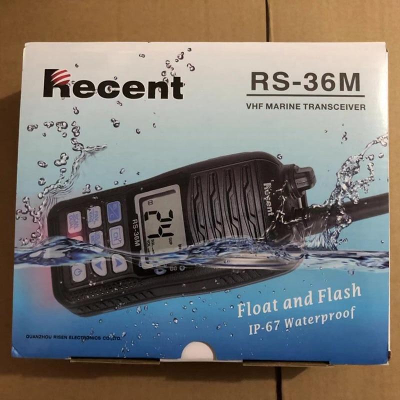 2019 waterproof walkie talkie RS 36M  VHF Handheld Marine Radio Float Dual/Tri watch Ham Portable 156 161.45Mhz Transceiver-in Walkie Talkie from Cellphones & Telecommunications