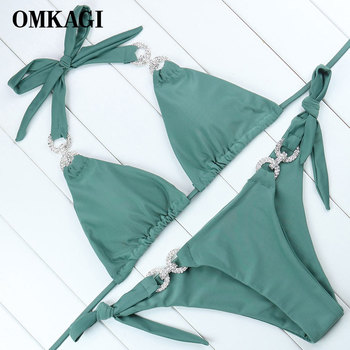 OMKAGI Brand Swimming Bikini 2018 Swimsuit Women Swimwear Biquinis Sexy Push Up Bikinis Set Bathing Suit Maillot De Bain Femme