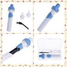 Безопасный сильная вибрация всасывания удобные ушной серы пылесос Электрический беспроводной вакуумный ухо очиститель для уха для чистки инструмент