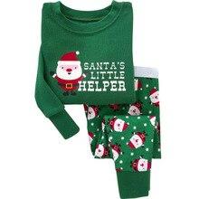 Брендовые хлопковые пижамы комплект детская Рождественская Пижама для мальчиков От 2 до 7 лет Детская Пижама для мальчиков пижамы Рождественский комплект одежды для мальчиков и девочек