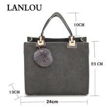 Female cross body bags for women New fashion shoulder bag luxury handbags women bags designer travel Hairball bag frosted