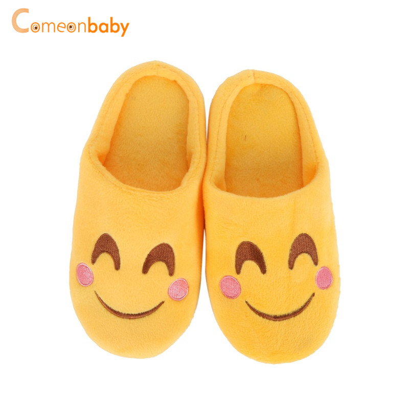 Baby Shoes Autumn Winter Kids Newborn Baby Boys Girls Cartoon Smile Expression Soft Plush Cute Infant Anti Slip Warm Shoes First Walkers First Walkers