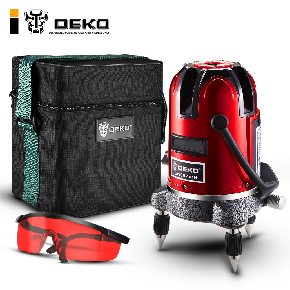 DEKO LL57 5 линий 6 очков лазерный уровень автоматическое самонивелирование вертикальные и горизонтальные 360 наклона Открытый режим можно испол...