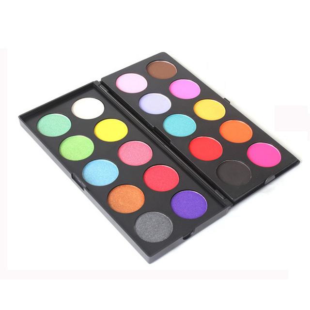 20 Cores Da Paleta Da Sombra Dupla Camada Mulheres Olho Maquiagem Cosméticos Mineral Shimmer Pigment Eyeshadow Set
