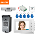 "7"" Screen Video Door Phone Doorbell Intercom System + Strike Lock+Alunimum Camera + Power Supply+ Door Exit+ ID Keyfobs"
