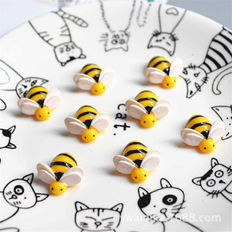 5Pcs/Lot Artificial Bees Slime Charms Toy For Children Pretend Play Charms Modeling Clay DIY Accessory For Kids