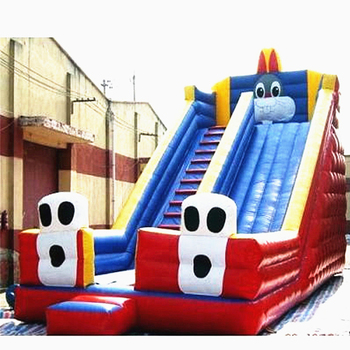 цена на Cheap outdoor fun PVC inflatable slide bouncer commercial inflatable slide in inflatable bouncer city slide