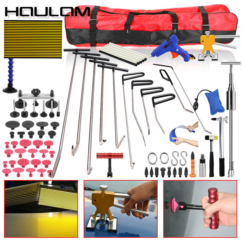 Auto  Paintless Dent Lifter Repair Hail Removal Slide Hammer Tool Puller Rods