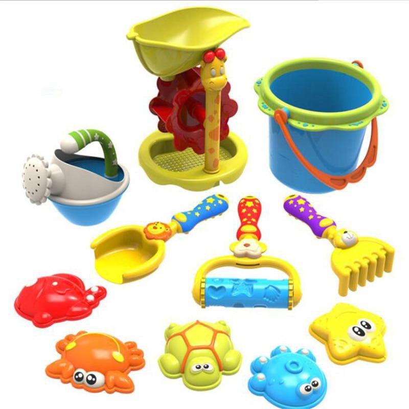 11 Pcs Infant Glänzende Strand Spielzeug Set Pp Tiere Modell Sand Spielzeug Baby Schaufeln Sand Spielzeug Eimer Spielen Mit Wasser Spielzeug Set
