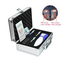 1 Набор новейший 2 светодиодный светильник микро плазменная ручка медиальный глаз век подтяжка кожи лазер точечный моль удаление морщин устройство
