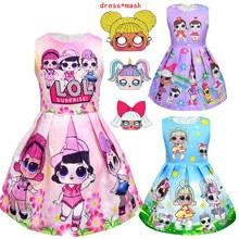 hot deal buy lol dolls baby dresses 2019 summer cute elegant dress kids party christmas costumes children clothes princess lol girls dress
