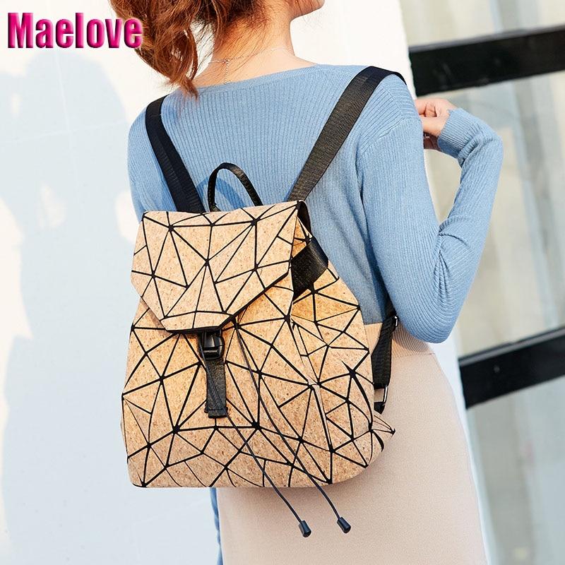136cdba1396f Maelove Мода 2019 г. рюкзак с геометрическим рисунком студента shool Сумка  для женщин рюкзак Геометрия