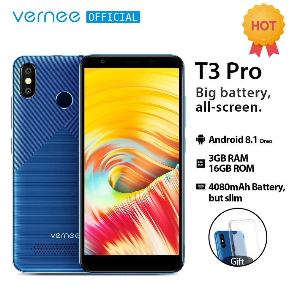 Vernee T3 Pro 5 5inch full screen 3GB RAM 16GB ROM Android 8 1 Smartphone Quad