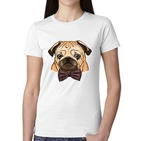 Premium Fitted Quality Tee Shirts Classy Pug Design Your Own T Shirts Women Round Neck Summer