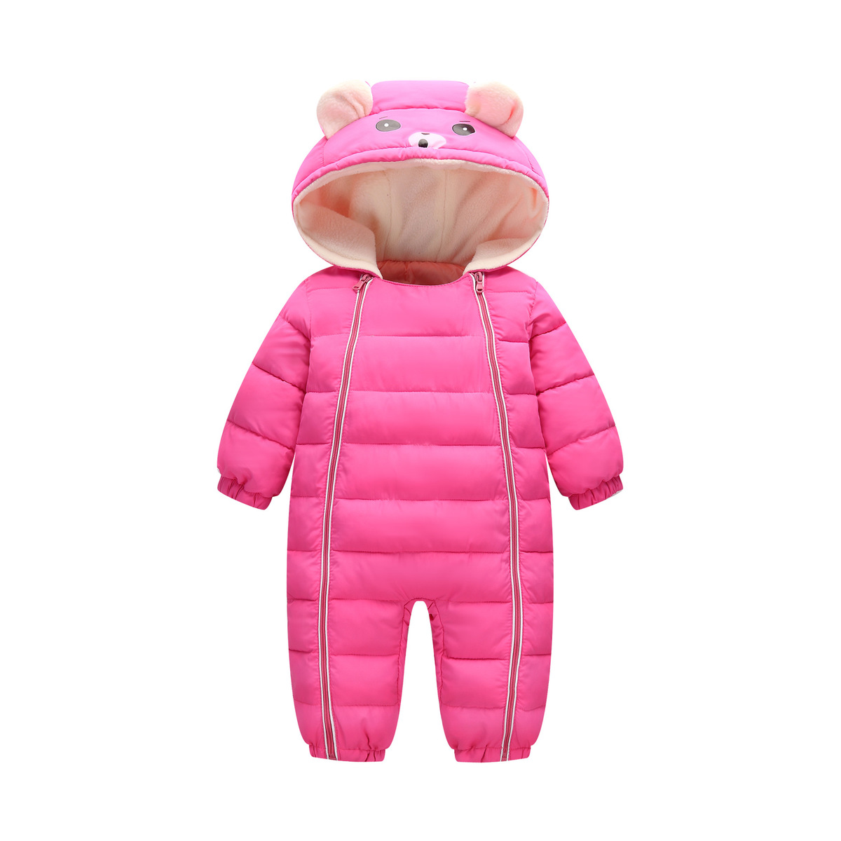 e2ab22586 2018 Winter Baby Snow Wear Thick Warm Girl Clothes Newborns ...