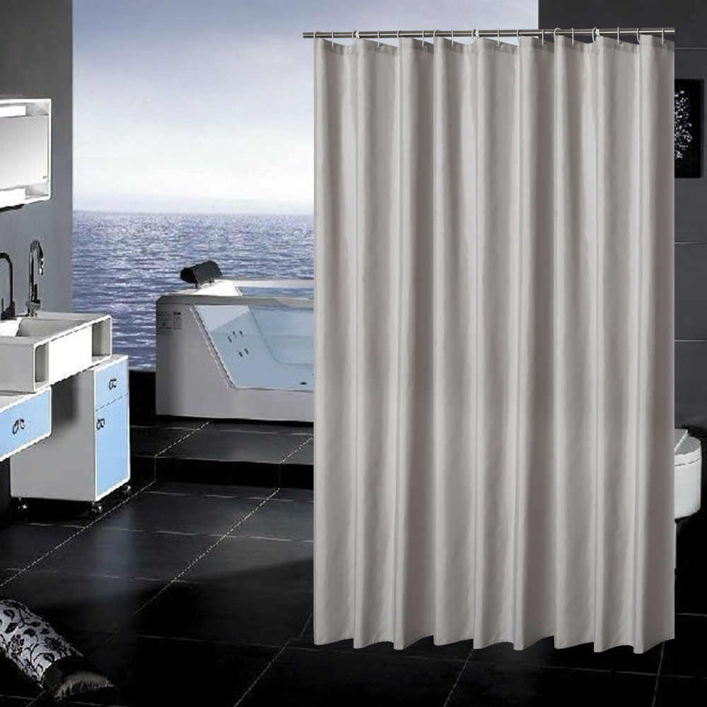Detail Feedback Questions About Hotel Fabric Shower Curtain Waterproof And Mildew Free Bath Curtains Heavy Weight Light Gray 5 On Aliexpress