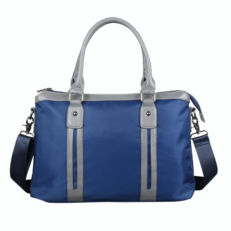 Casual Business Briefcase Computer Bag Waterproof Canvas Lightweight File Handbag