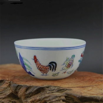 Chinese Antique Porcelain MING CHENGHUA Hen 280 Million Chicken Cup Bowl