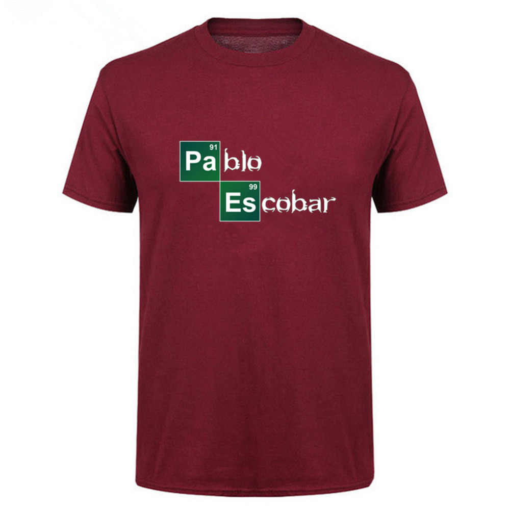 2018 Прямая поставка Для мужчин футболка нарушение Pablo футболка Пабло Эскобара футболка Для мужчин науки camisetas hombre Фитнес Одежда
