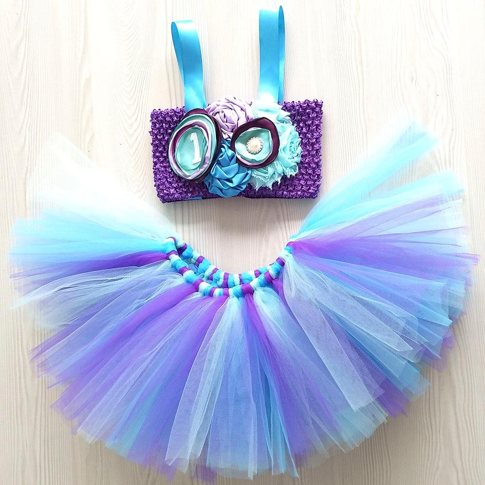 Princess Mermaid Ariel Cosplay Tutu Dress Toddler Girl Birthday Party Separate Character Tutu Dresses Halloween Custom For Kids аксессуары для косплея neko cosplay