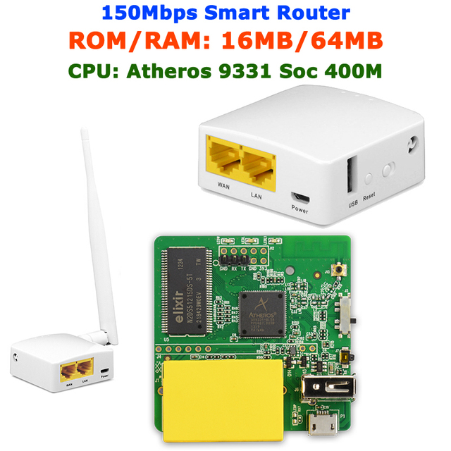 GL-AR150 AR9331 802.11n 150Mbps OPENWRT Firmware Mini WiFi Router WiFi Repeater OPENVPN Travel Router internal/External Antenna