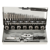 LIPLASTING 32PCS Top Quality Alloy Steel Tap And Die Set Metric Tap Dies Set For Professional