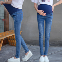 6XL Big Size Pregnant Woman Jeans Autumn Maternity Pants Pregnant Woman 2018 New Pattern Enceinte Clothing Pregnancy Clothes