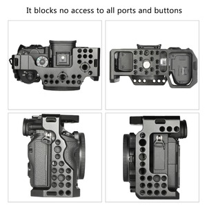 Image 5 - كاميرا صغيرة a7r3 هيكل قفصي الشكل للكاميرا لسوني a7m3 لسوني A7R III كاميرا/A7 III قفص تلاعب ث/مقبض علوي قبضة الكاميرا الكرة رئيس 2103