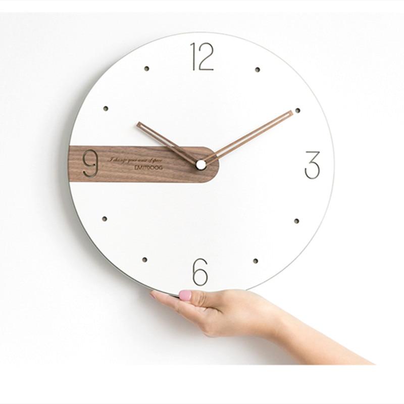 Moderna Semplice Nordic Leggero e di Lusso Orologio Artisti usano orologi di legno Creativo orologi di moda - 5