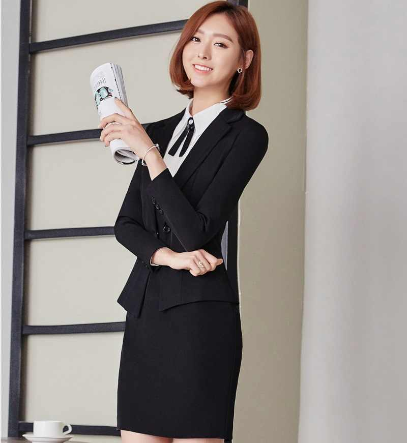 a6e764fb5b24d56 ... Осень-зима Профессиональный деловые блейзеры женские костюмы форма  стильные платья костюмы для Бизнес Для женщин ...
