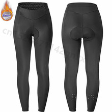 MAVIC Whole Black Winter Women Cycling Long Pants Thermal Fleece Race Bicycle Bottom Bike Pants 9D Coolmax Gel Pad Ropa Ciclismo недорого