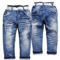 3940 PANTALONES VAQUEROS DEL BEBÉ bebé pantalones niñas pantalones azul nueva cabritos de la ropa de los niños elásticos pantalones de mezclilla de primavera y otoño moda