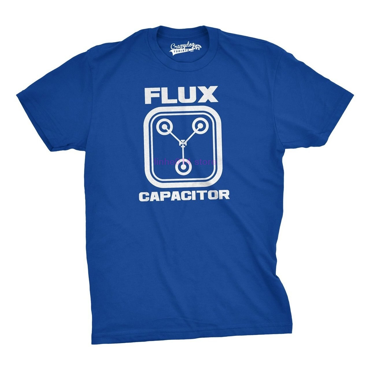 Clothing Flux Capacitor T Shirt Funny Vintage Retro 80s Movie T Shirts for Men 3178