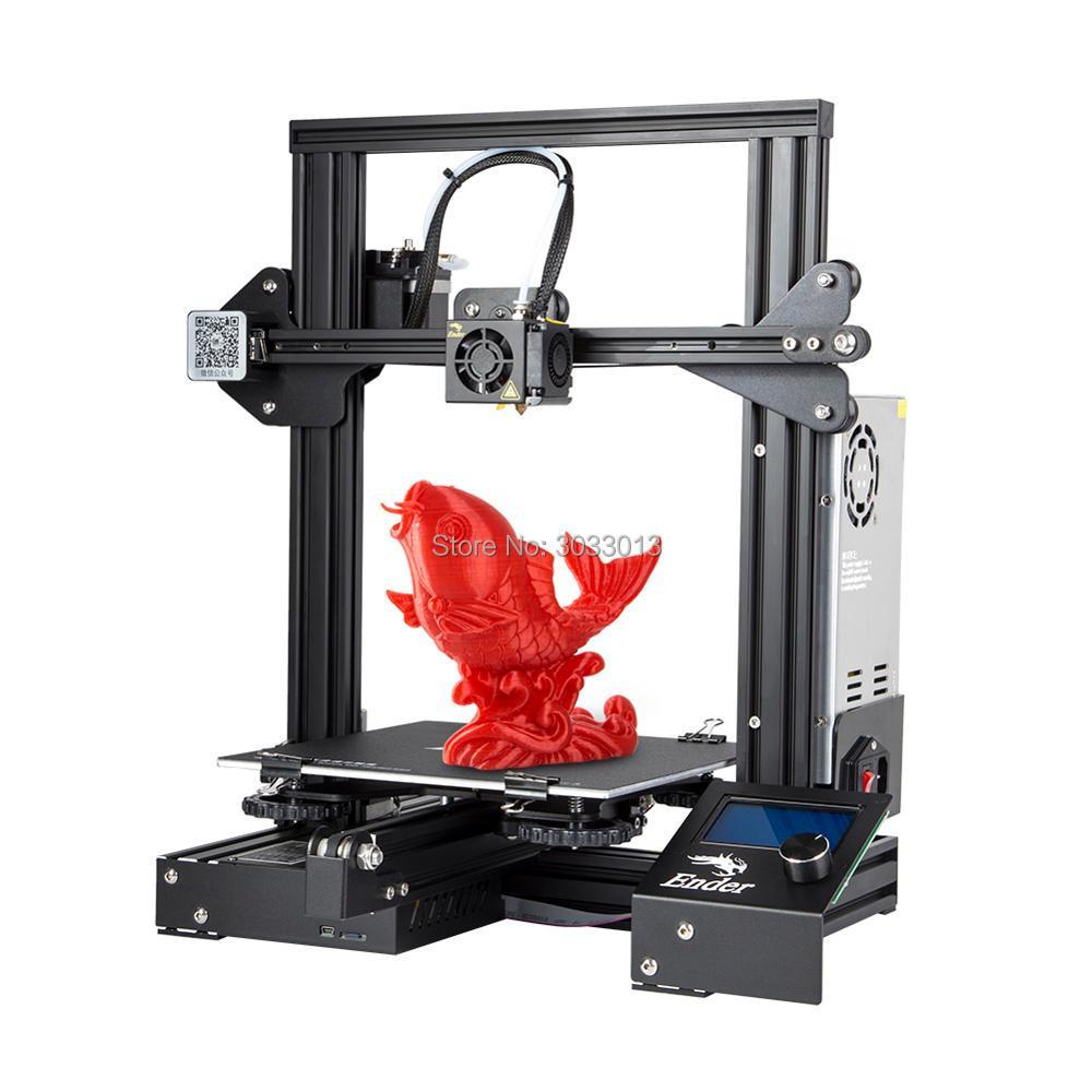 Ender-3 3D Pinter DIY KIT Γυαλί / Αφαιρούμενο κρεβάτι Μεγάλη επιλογή Μέγεθος εκτύπωσης Ender 3 Συνέχιση ισχύος V-υποδοχή Prusa i3 Creality 3D