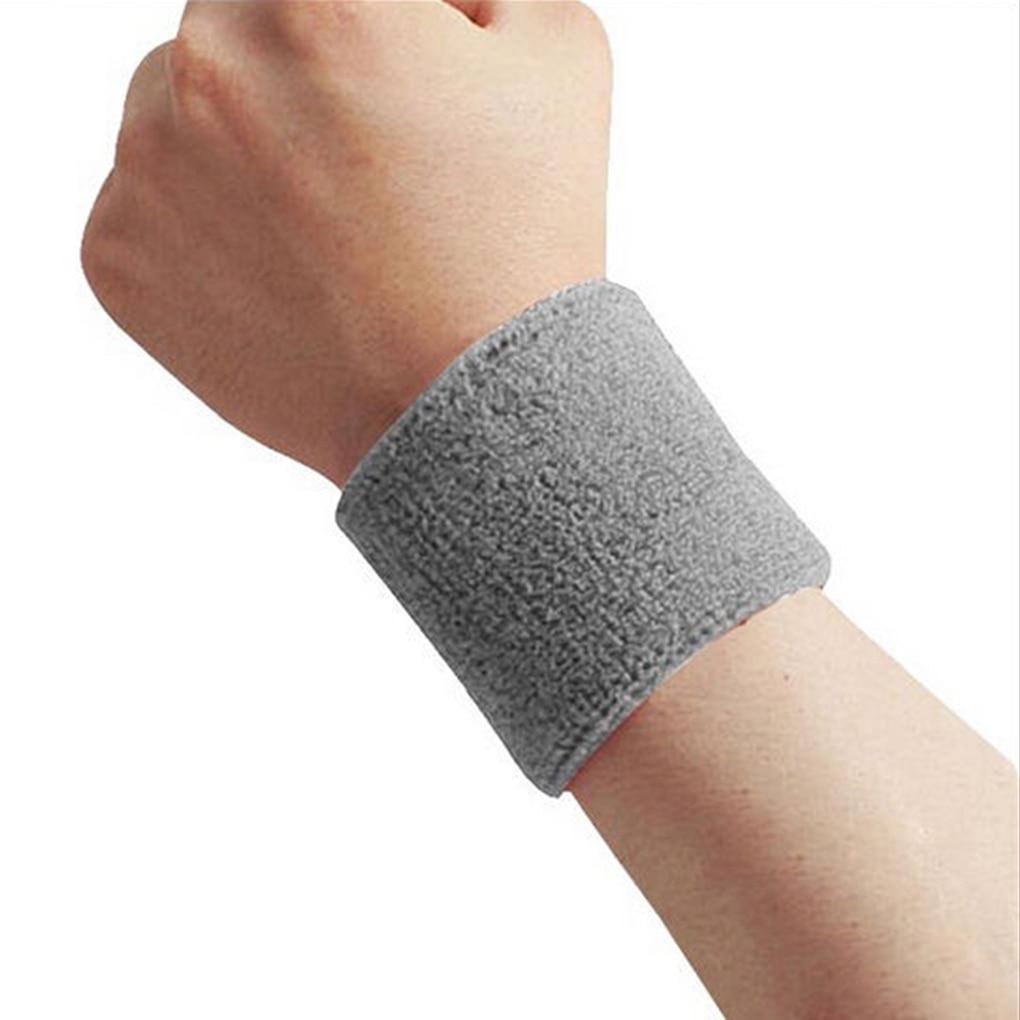 1x Unisex Terry Cloth Cotton Sweatband Sports Wrist Tennis Yoga Sweat
