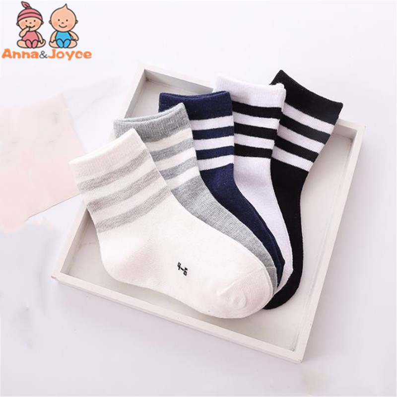 10pcs=5 Pairs /lot Spring And Autumn Children Socks Boys And Girls 1-10 Year Cotton Products Kids Socks Baby Kids Socks