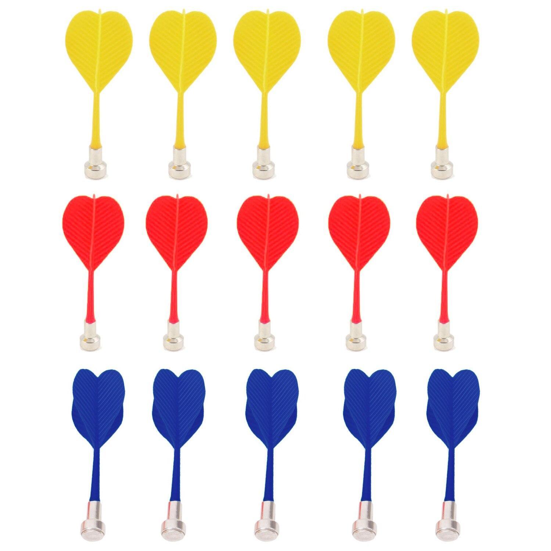 15 шт. замена безопасный магнитный Дартс магнит цель игры игрушки красный цвет желтый, синий; размеры 34–43
