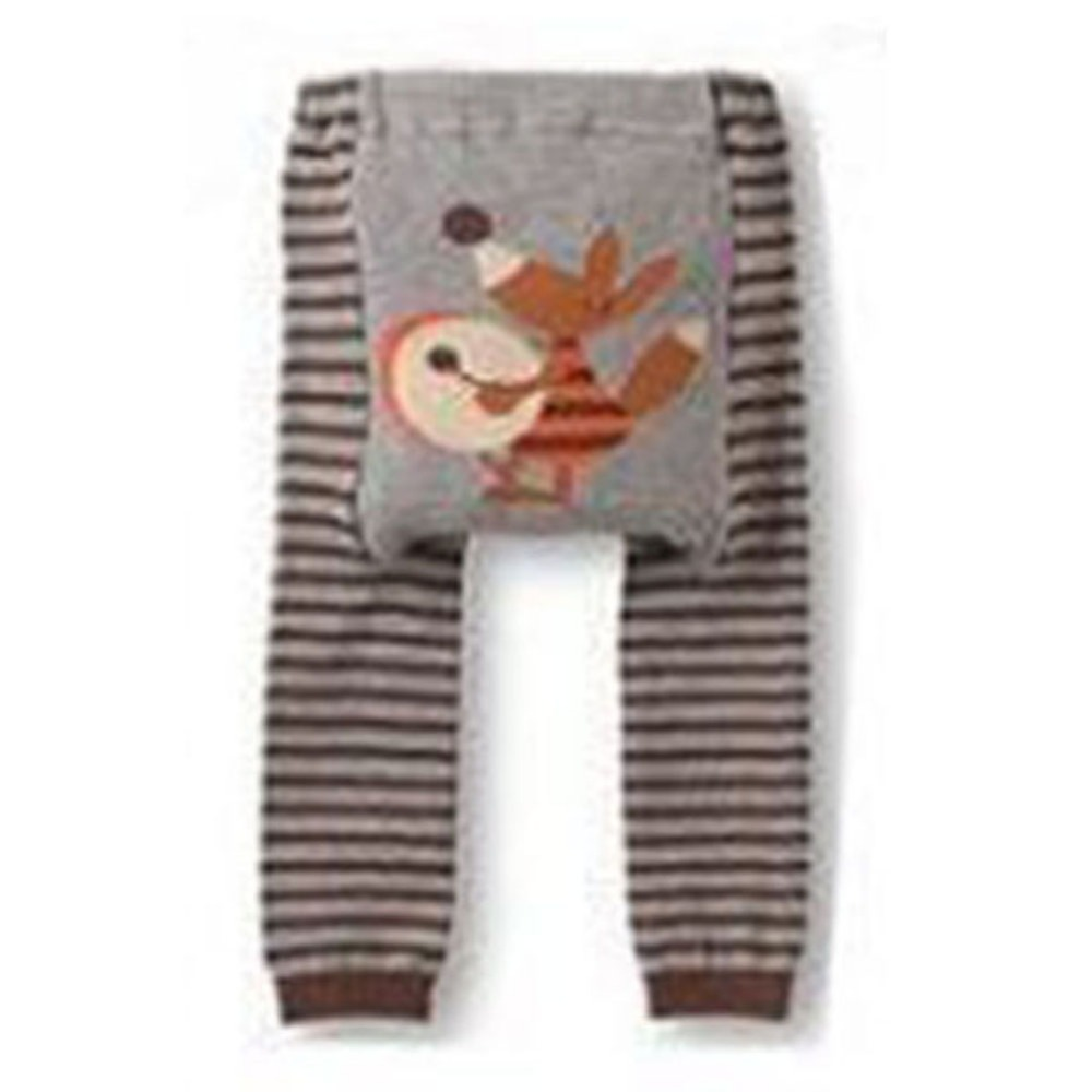 Newborn Baby Kid Infant Toddler Cartoon Striped Leggings Long Pants 6 Colors