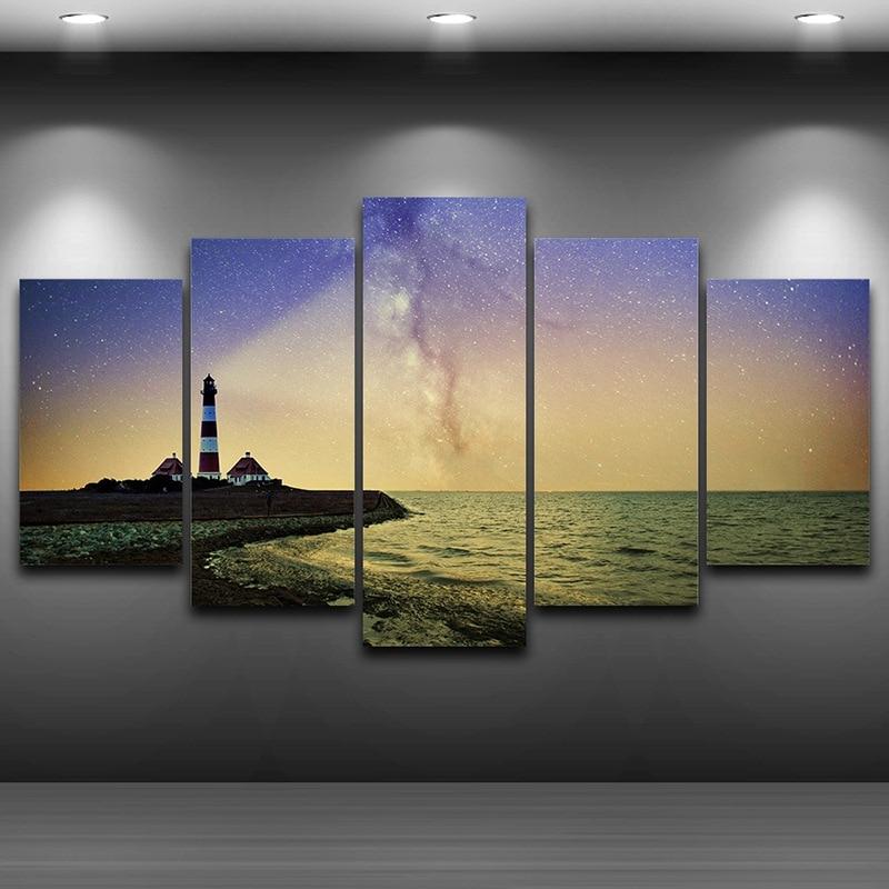 Leuchtturm Gerahmte wandkunst bild Spray Ölgemälde Dekoration HD ...