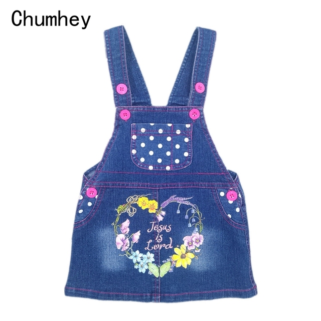 Chumhey Summer Baby Girls Denim Overalls Kids Jeans Dress Cute Outwear  Sweat Suspender Dresses Toddlers Clothing Bebe Clothes c24576ebc6af
