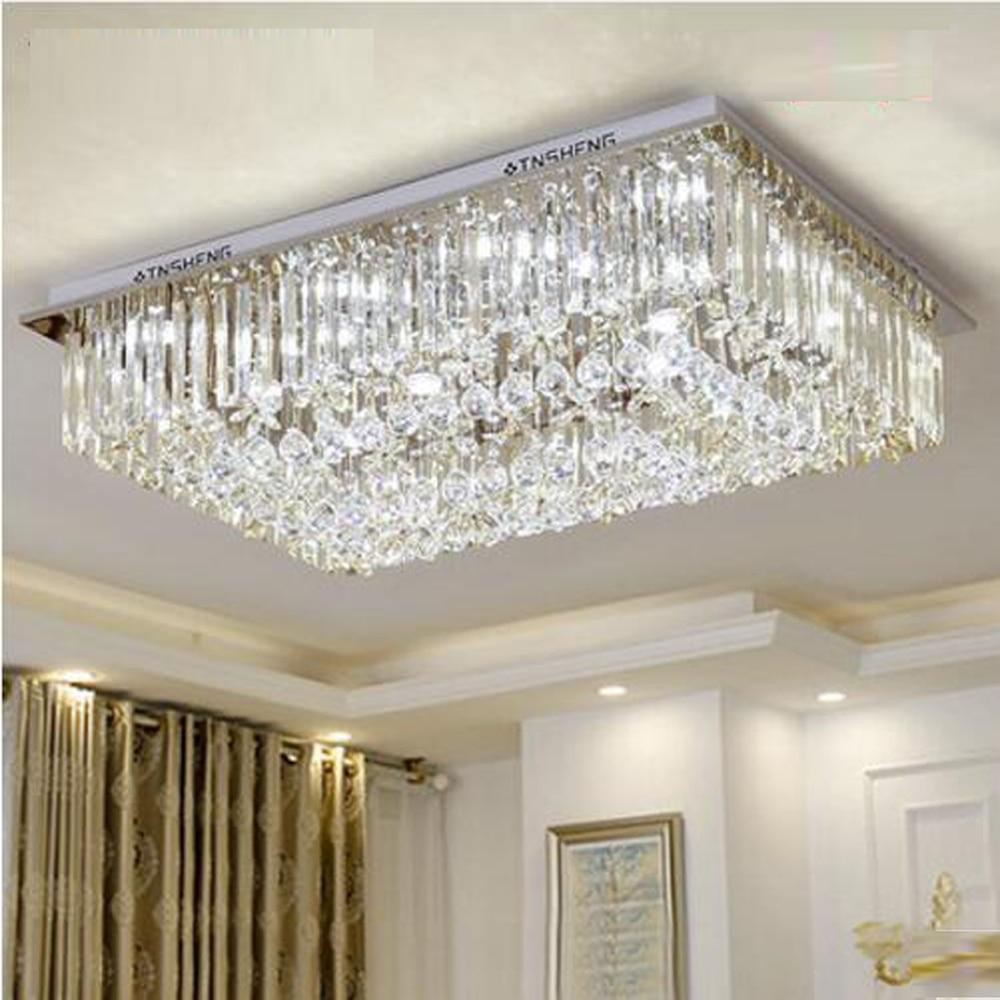 Jmmxiuz New Rectangular Pendant Lights Modern Lamp Ac110v: New Design Rectangular Crystal Chandelier Modern Lighting